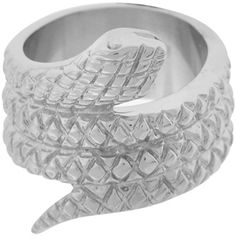 Inox Jewelry Women's Twirling Snake 316L Stainless Steel Ring