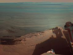 Shadows at Endeavour Crater on Mars