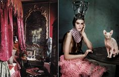 1.ROSEKRANS BEDROOM IN PARIS, FRANCE, DECORATED BY TONY DUQUETTE AND HUTTON WILKINSON, TONY DUQUETTE INC., LOS ANGELES.Tony Duquette  2. 'Circus Humanus' Maria Bradley by Aitken Jolly for Dansk Fall 2012 [Editorial]