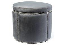Corman Storage Ottoman, Slate Gray on OneKingsLane.com