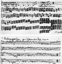 The notes for scampering Lilliputians and ponderous Brobdingnag in Telemann's Gulliver Suite.