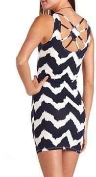 Strappy Back Chevron Dress on shopstyle.com