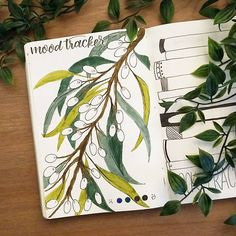 "102 Likes, 4 Comments - Sam's Scribbles & Plans (@shouthuzzahdoodles) on Instagram: ""(April Mood Tracker) Loving my random olive theme - lol. I decided to stick with just two trackers…"""