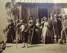 1860s Switzerland Mountain Climbing Ladies cdv