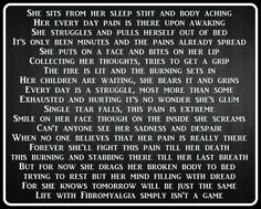 A poem from Surviving Chronic Pain Facebook Page. #Fibromyalgia