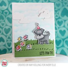 Amy  and Maska  are on the blog today with some cute projects. Take a look!    I love this card that Amy created. That inked sky, laye...