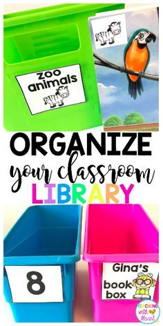 Organize your classroom library with library labels for leveled books, thematic books, and student book boxes! It's easy to customize them for your classroom with editable labels, too!