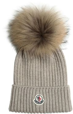Wool Hat With Murmansky Fur Pompom