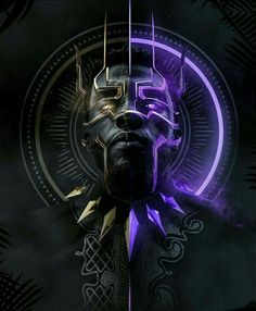 black panther fan art by @bosslogic