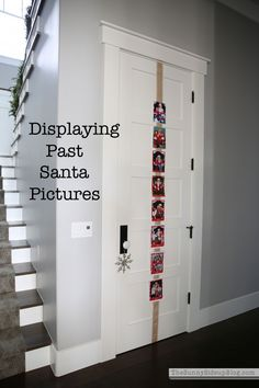 Fun and simple way to display past Santa Pictures (or any other Christmas cards/pictures) - Sunny Side Up