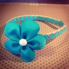 Turquoise Flower Hairclip with Turquoise and by BellesBows2011, $10.00
