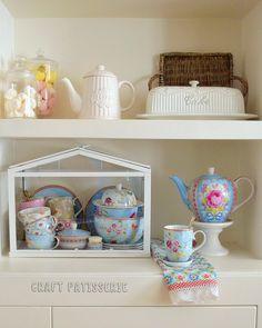 Socker greenhouse Ikea repourpouse; tea set storage. Pip studio. Craftpatisserie.com