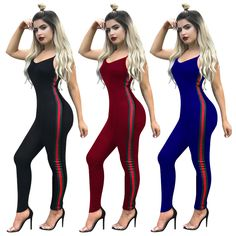 3d45d8283dd Low Price Sexy Women Tight Club Jumpsuits with Stripes SN3216 · Striped JumpsuitCasual  JumpsuitJumpsuits 2017Trouser SuitsTrousersRed WinePlaysuitBackless ...