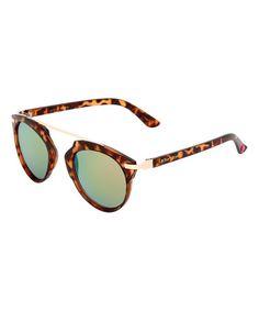 Look at this #zulilyfind! Tortoise Round Sunglasses #zulilyfinds