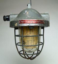 Fabrik Design Bunker Lampe Original Industrial Cage Light Unikat
