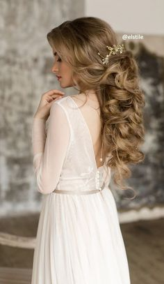 Wedding Hairstyles : Featured Hairstyle: Elstile;www.elstile.ru; Wedding hairstyle idea.