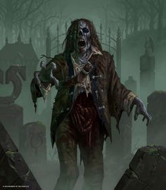 Zombie art by Craig J Spearing Zombie Kunst, Zombie Art, Creatures 3, Fantasy Creatures, Art Sombre, Zombies, Zombie Illustration, Scary Art, Creepy