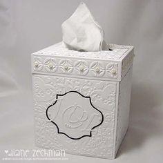 DIY Tutorial Home / DIY Tutorial: Tissue box cover and video tutorial - Bead&Cord Home : DIY Tutorial: Tissue box cover and video tutorial<br> Tissue Box Covers, Tissue Boxes, Papel Tissue, Boxes And Bows, Kleenex Box, Craft Bags, Altered Boxes, Diy Box, Making Ideas
