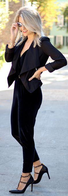 Black Pointed Hem Jacket