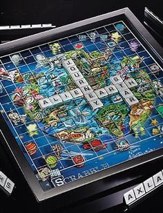 Delight the game enthusiast in your life with the 3D Scrabble® World Edition by Charles Fazzino that encourages fun game nights and good times.