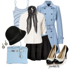 """Baby Blue Girl"" by jewhite76 on Polyvore"