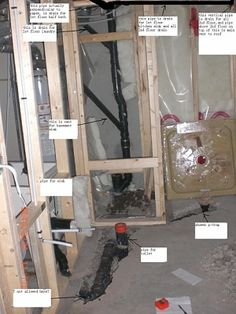 electrical rough ins basement ideas plumbing plasterboard basement rh pinterest com