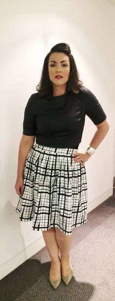The National Lottery, September 21, 2015. #outfitdiary Top: 3x1 NYC Skirt: ASOS, customized Shoes: Jimmy Choo Earrings: Zara Cuff: Topshop