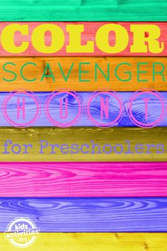 Oh what fun!  Color Scavenger Hunt for Preschoolers