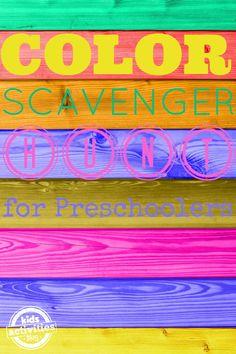 Color Scavenger Hunt for Preschoolers