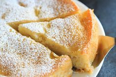 French Apple Cake - Part custard, part traditional cake and PACKED with apples! | http://www.browneyedbaker.com/french-apple-cake/