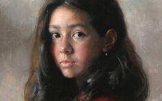 oil portrait | Arsen Kurbanov portrait painting oil Dagestan girl portrait