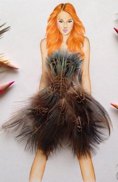 #Feathers by @edgar_artis| Be Inspirational❥|Mz. Manerz: Being well dressed is a beautiful form of confidence, happiness & politeness