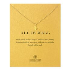 all is well hamsa necklace, gold dipped