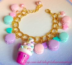 Finished macaron cupcake bracelet for a custom order I am so pleased with the…