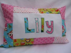 Owls  Personalized Pillow by goodnightsweetdreams on Etsy,