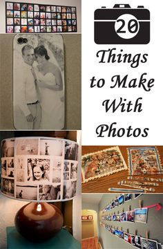 Today I am sharing with you 20 ways to craft with your special photos. Browse a gallery of ideas and find something for yourself!