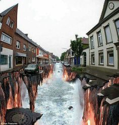 Funny pictures about Incredible Street Art. Oh, and cool pics about Incredible Street Art. Also, Incredible Street Art photos. 3d Street Art, 3d Street Painting, Amazing Street Art, Street Art Graffiti, Street Artists, 3d Painting, Red Street, Graffiti Artists, Edgar Mueller
