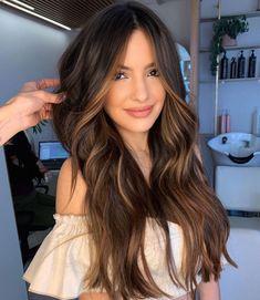 Brown Hair Balayage, Balayage Brunette, Hair Color Balayage, Bayalage On Dark Hair, Hair Color Streaks, Hair Color For Black Hair, Hair Highlights, Brown Highlights On Black Hair, Best Brunette Hair Color