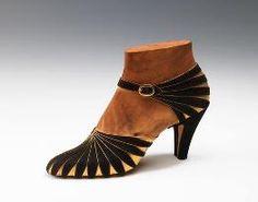 Art Deco Shoes - 1920's - by Steven Arpad (1904-1999) Love it! ~/\/\