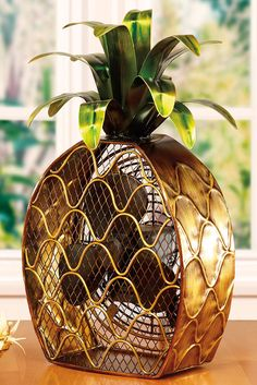 Let this charming Pineapple Shaped Decorative Figurine Fan brighten your day while it keeps you cool. With its decorative appeal, a Figurine Fan can easily become a permanent part of any desk, vanity, bedroom, kitchen, or bathroom décor.