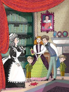 Canterville ghost - Illustration Lindsay Osborne