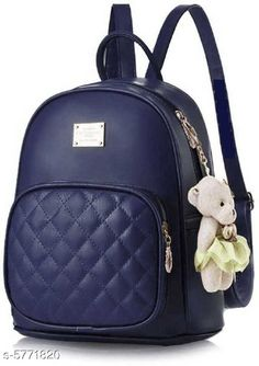Backpacks TRENDY BACKPACK FOR GIRLS AND WOMENS Material: PU No. of Compartments: 2 Pattern: Solid Multipack: 1 Sizes: Free Size (Length Size: 15 in) Country of Origin: India Sizes Available: Free Size *Proof of Safe Delivery! Click to know on Safety Standards of Delivery Partners- https://ltl.sh/y_nZrAV3  Catalog Rating: ★3.9 (2573)  Catalog Name: Voguish Classy Women Backpacks CatalogID_868576 C73-SC1074 Code: 282-5771820-