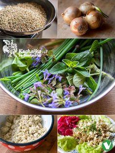 Kuchařka ze Svatojánu: POHANKA S CIBULÍ Tofu, Quinoa, Green Beans, Vegetables, Recipes, Fitness, Bulgur, Recipies, Vegetable Recipes