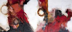 Three Contemporary Encaustic Painting by Kara Brook