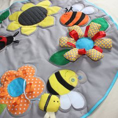 Great baby Play-Mat Busy blanket Baby activity by PopelineCo