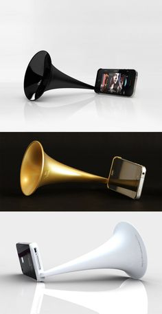 ARKCANARY II  :: Low-tech megaphone for iPhone ($10.00) -- to play your home-made iTunes mix during a happy hour