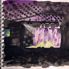 http://clelia.org/illustrations aquarelle de la scène du festival Jazz in Marciac 2014
