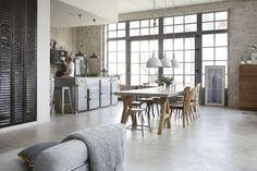 texturas decoración muebles grandes volumenes decoración Hormigón ladrillo visto cemento pulido estilo nórdico industrial estilo nórdico esc...