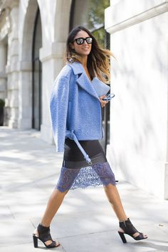 How to Make a Lace Skirt Work for Daytime | StyleCaster