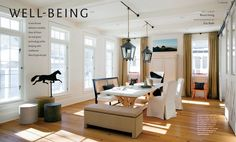 """Well-Being"".  Interiors by Lisa Tharp.  Design New England Magazine"